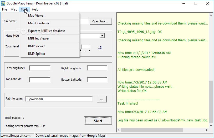 Download Google Maps Terrain Downloader 7.15 on