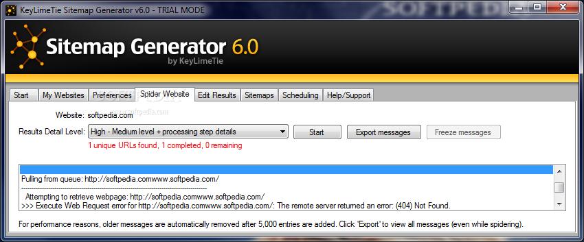 Download KeyLimeTie Sitemap Generator 6.0
