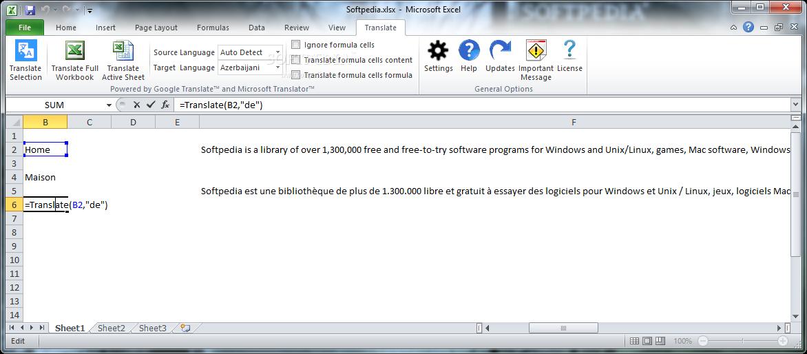 Download Google Translate for Excel 9 0 0 7