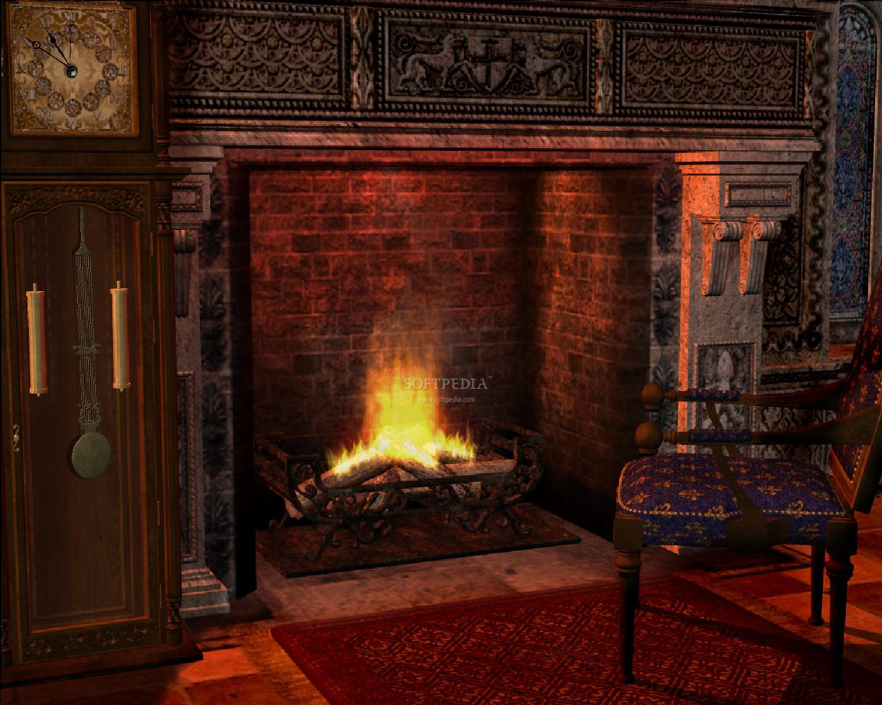Free Fireplace Wallpaper: Animated Screensaver Download