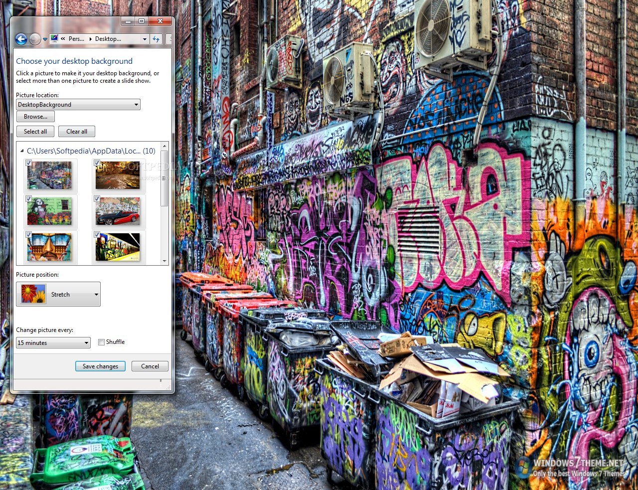 Graffiti art windows 7 theme this is a sample from what this theme pack will