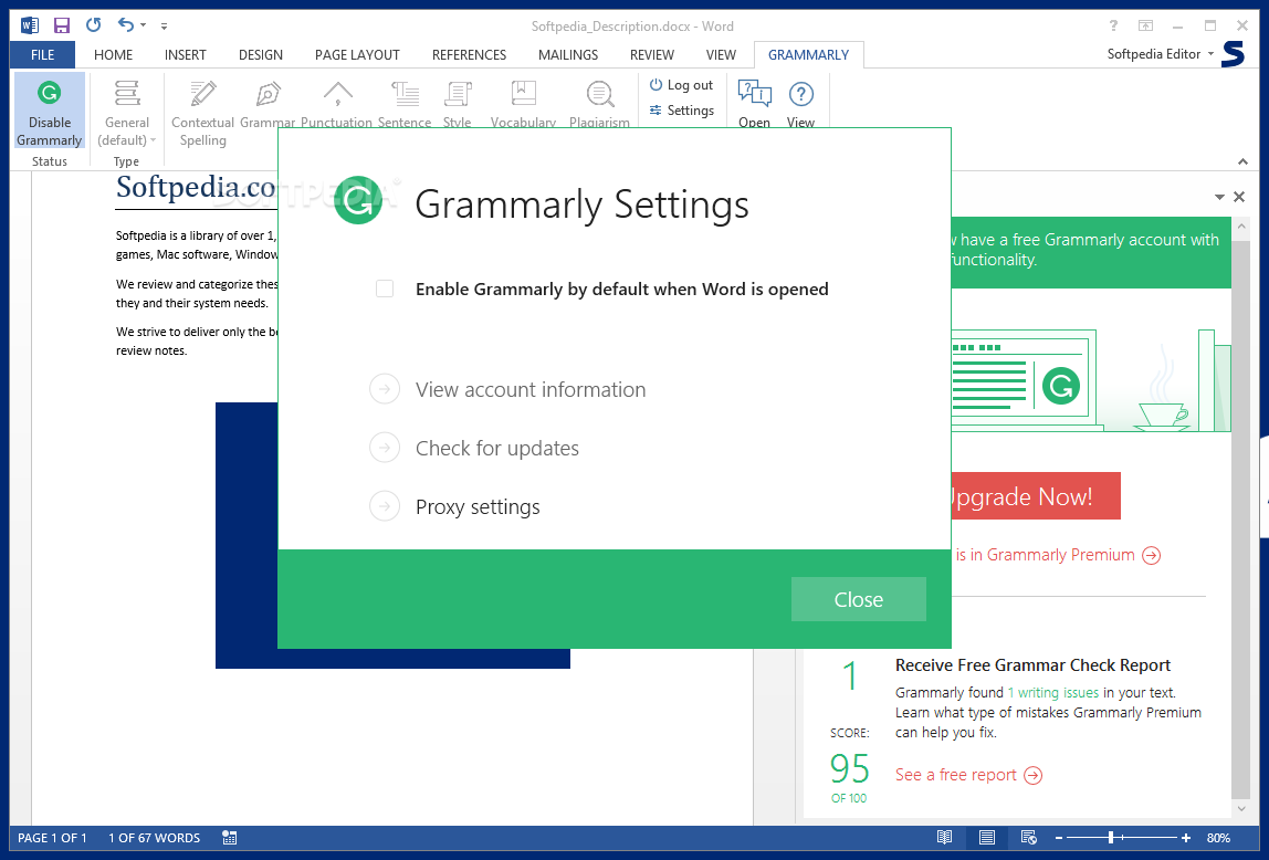 Grammarly for Office download