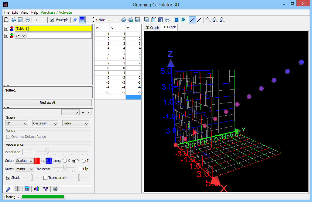 Download Graphing Calculator 3D 7 3