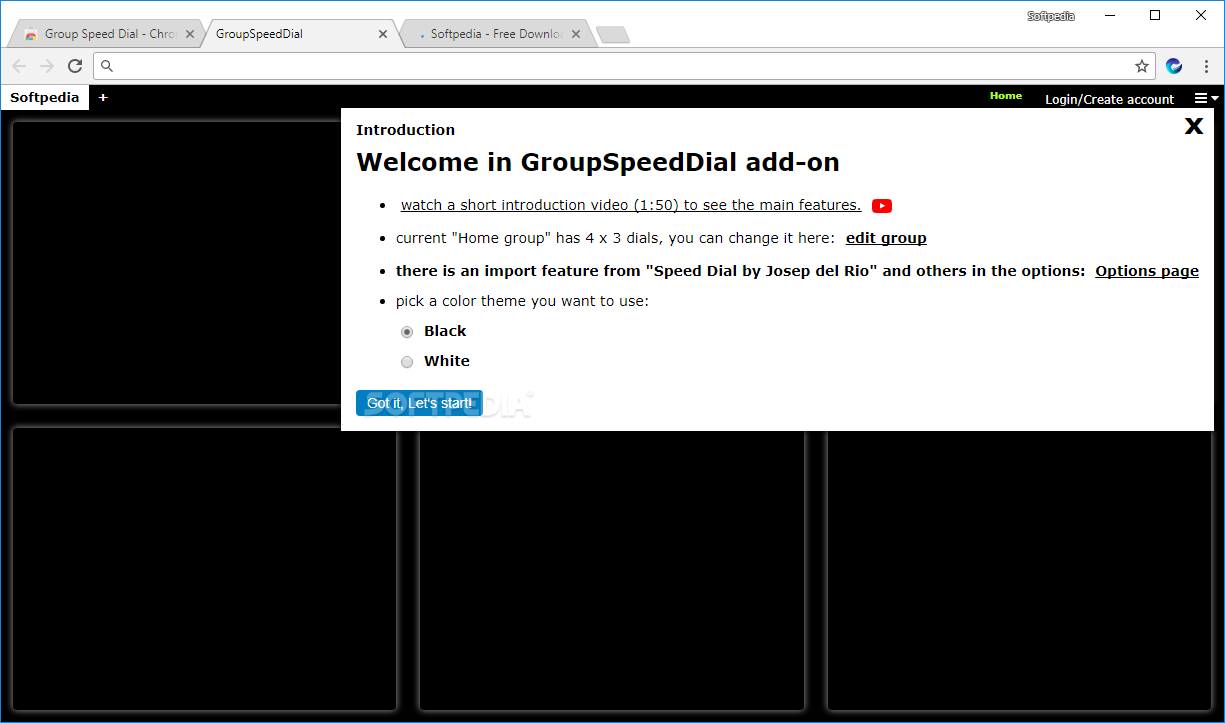 Download Group Speed Dial for Chrome 13 8