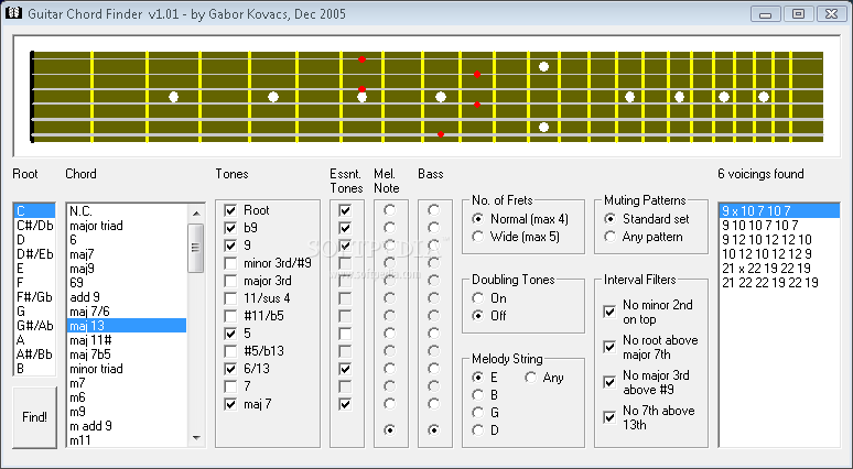 Download Guitar Chord Finder 1.01