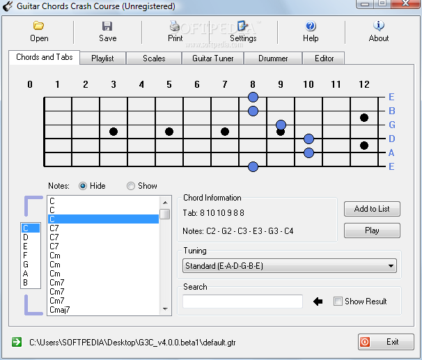 Download Guitar Chords Crash Course 4.0.0 Beta 1 / 3.4 Stable