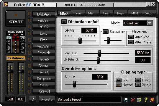 pedaleira virtual guitar fx box
