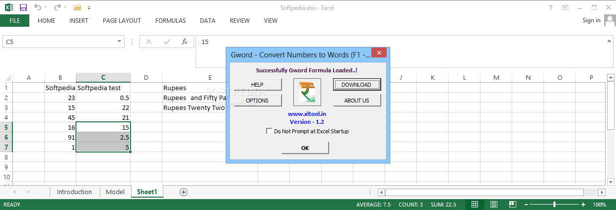Download Gword - Excel Convert Numbers to Words 1 4