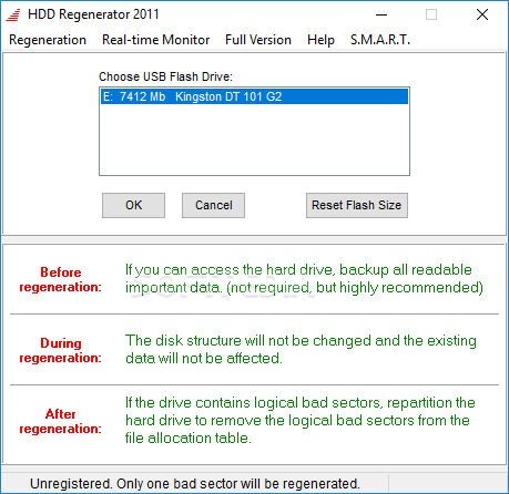 hdd regenerator 1.71 full - (repair bad