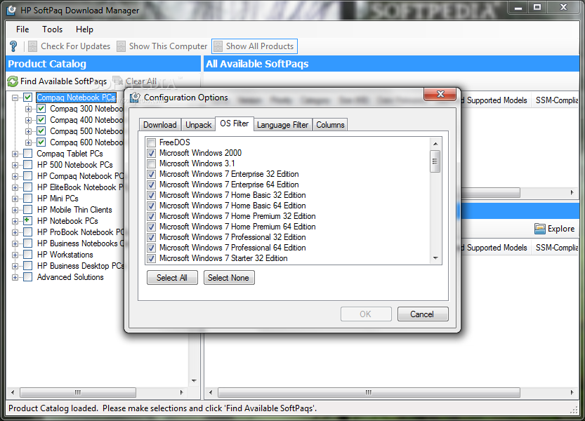 HP SoftPaq Download Manager Driver for Windows