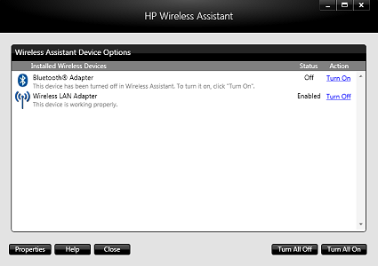 HP Pavilion HDX9226TX Wireless Assistant Drivers for Windows 10