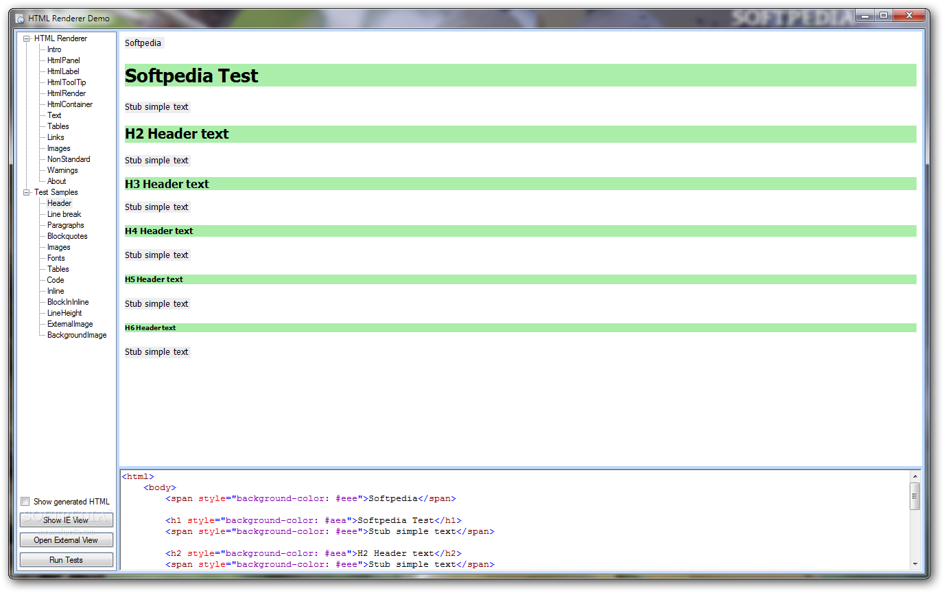 Download HTML Renderer 1.3.0.0