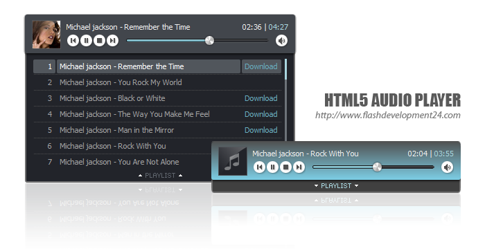 free html5 audio player with playlist