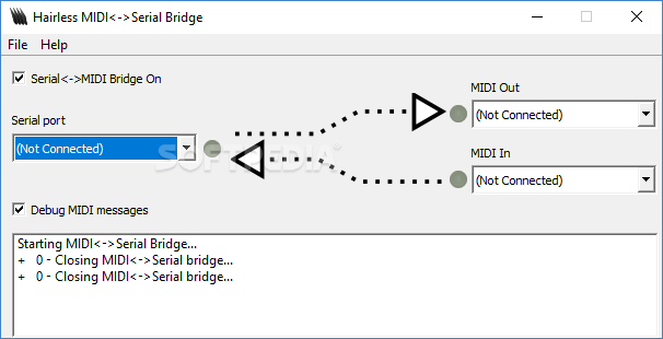 Download Hairless MIDI to Serial Bridge 0 4
