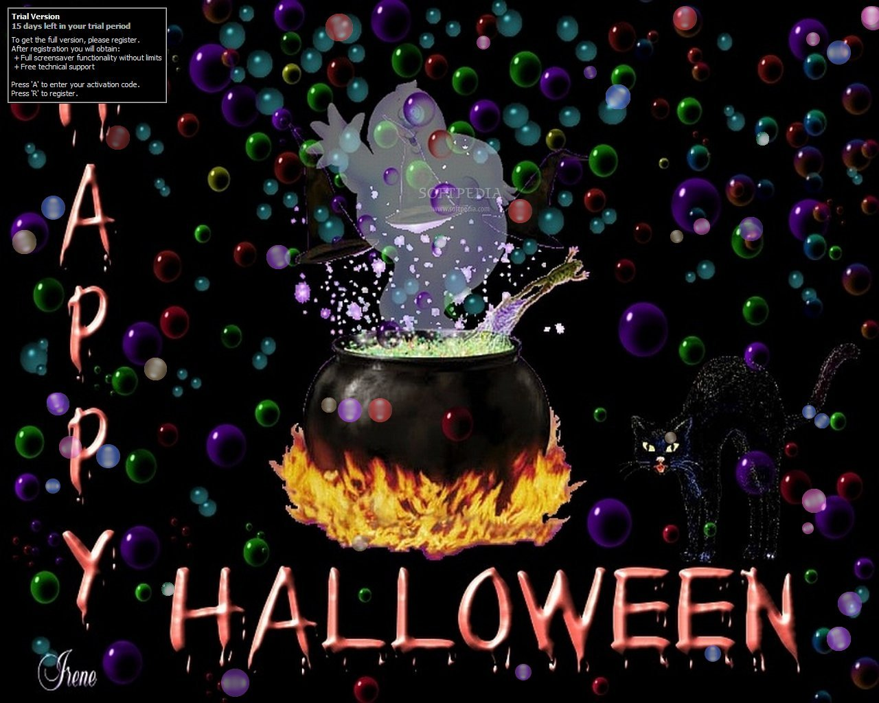 Halloween Bubbles Screensaver Download
