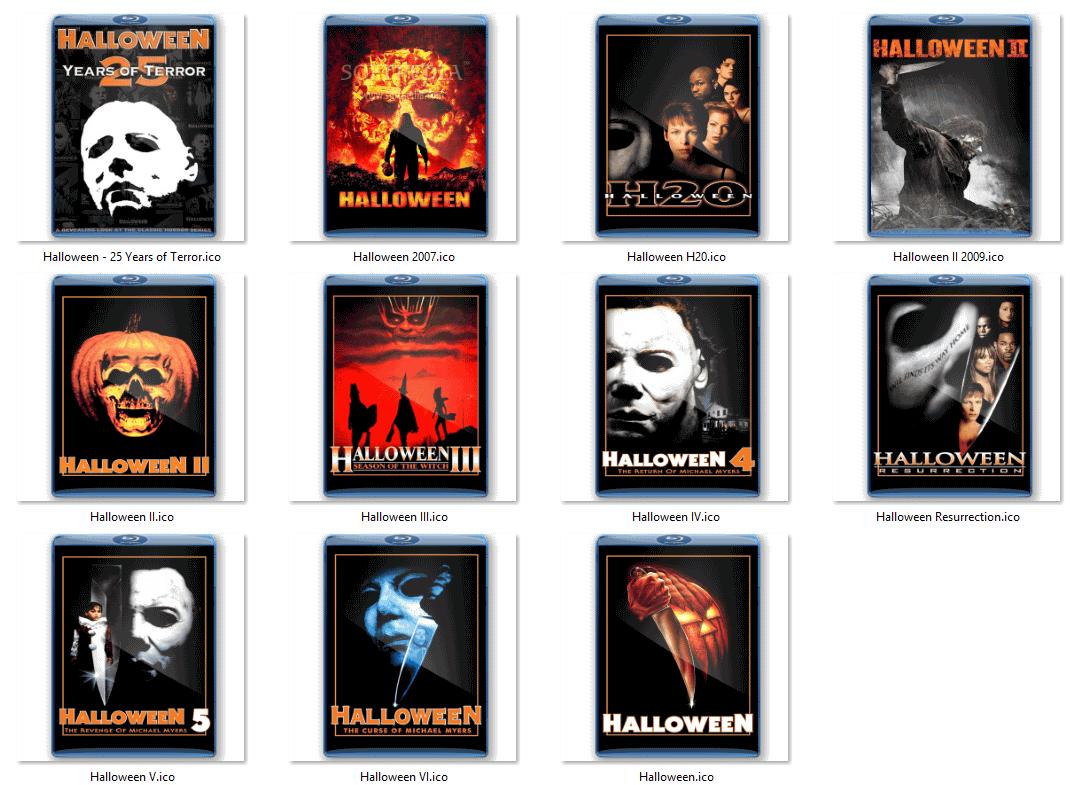 Download Halloween Movie Folder Icons