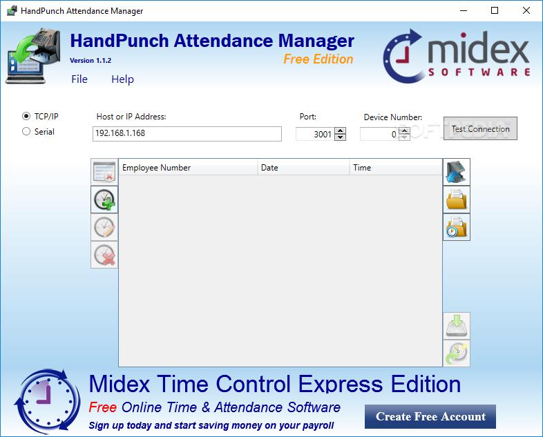 download handpunch attendance manager 1 1 2