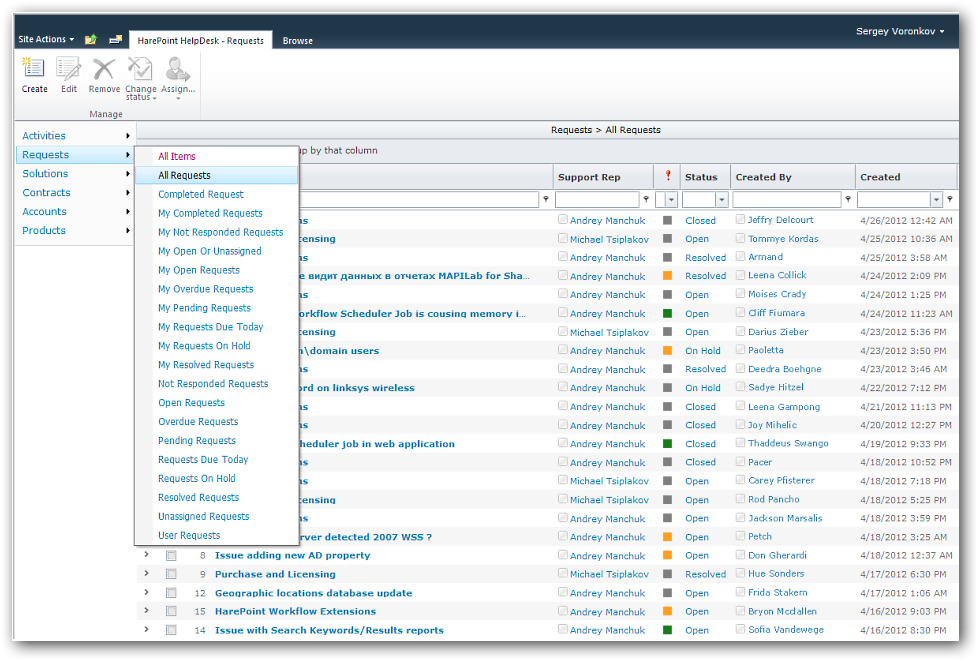 Download HarePoint HelpDesk for SharePoint 16.4