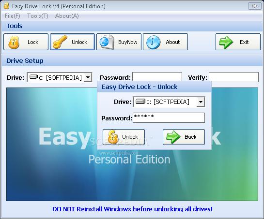 Hard drive locker software free download.