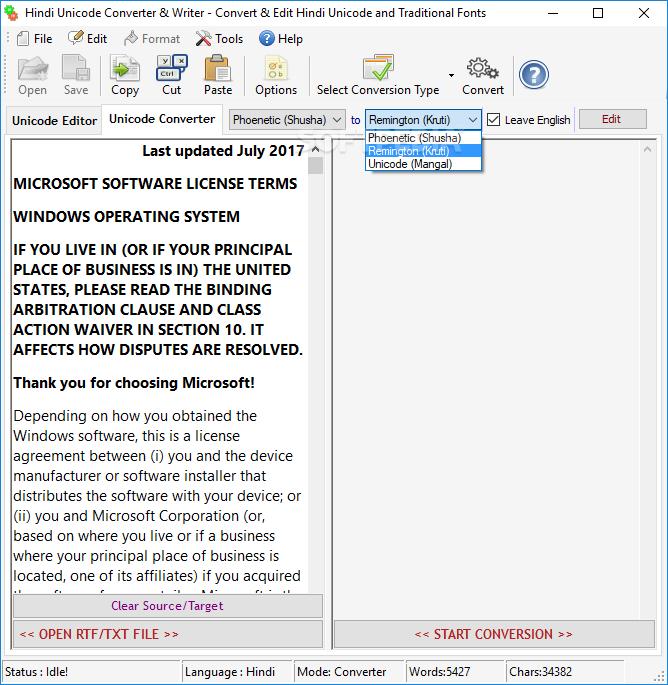Download Hindi Unicode Converter & Writer 5 1 1 22