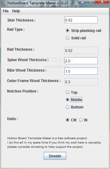 HollowBoard Template Maker - This is how you can use the main window ...