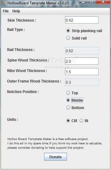 HollowBoard Template Maker