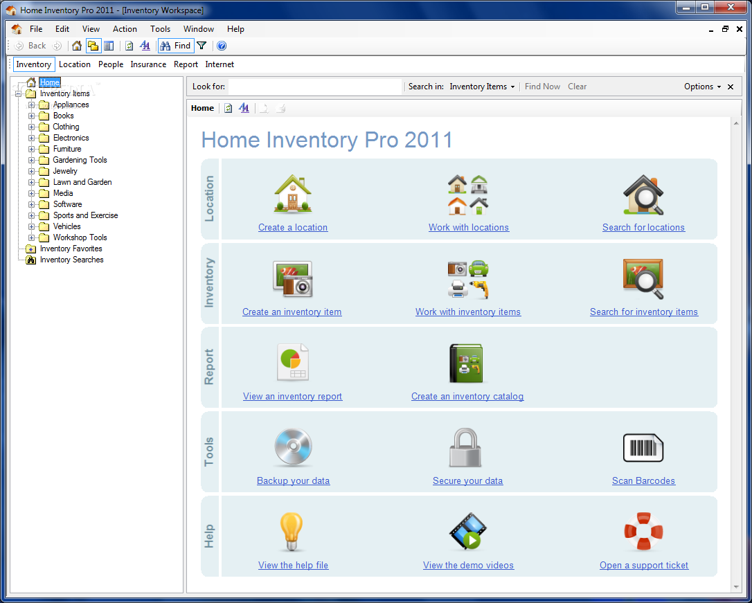 Download Home Inventory Pro 2011 1 0 21