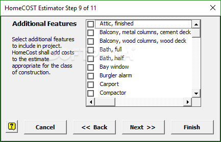 balcony cost estimator Download HomeCost Estimator For Excel 12