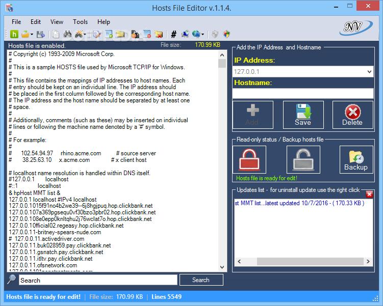 Download Hosts File Editor 1 5 9