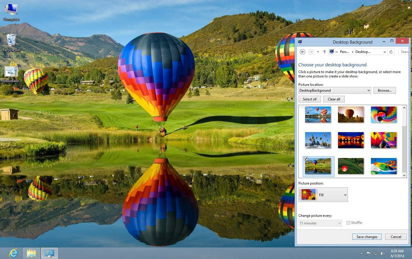 Download Hot Air Balloons Theme