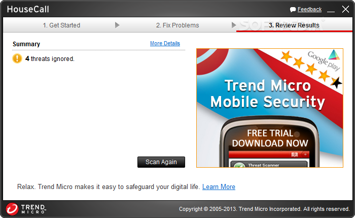 Download Trend Micro HouseCall 8 0