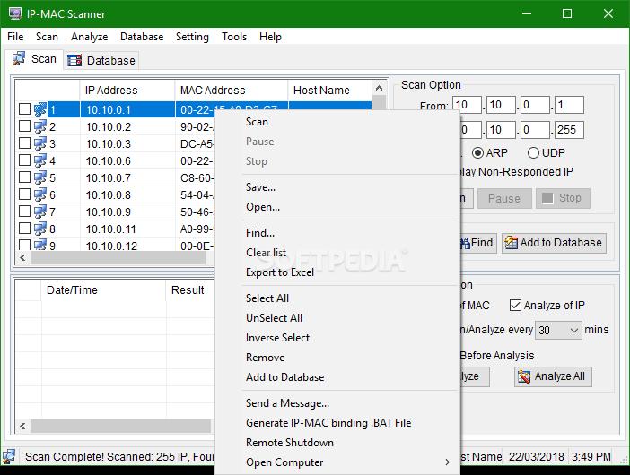 Download IP-MAC Scanner 2 0 5