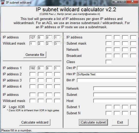 Download IP subnet wildcard calculator 2 2