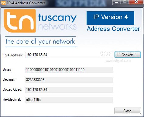 Download IPv4 Address Converter 1 0 0