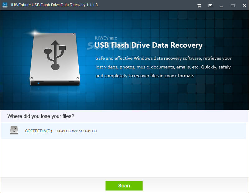 IUWEshare Flash Drive Data Recovery 1.1.5.8 Unlimited AdvancedPE استعادة البيانا بوابة 2016 IUWEshare-USB-Flash-