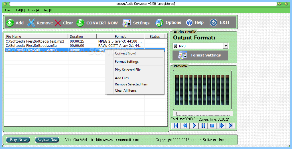 Convert and encode sound files quickly