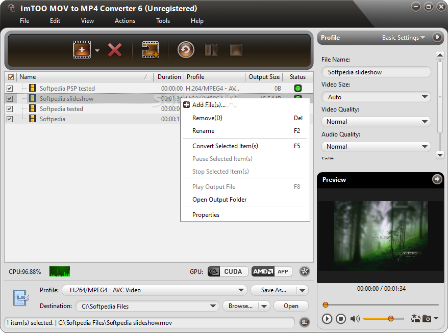 Imtoo mov to mp4 converter 6.0.2.0415