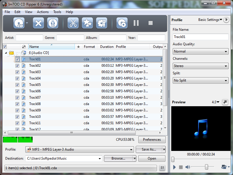 ImTOO PSP Music Suite will help you convert audio/video formats like aud