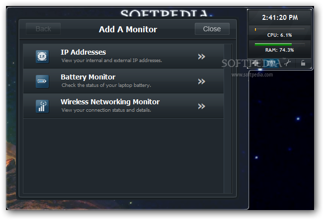 Laptop Battery Monitor : System monitor download