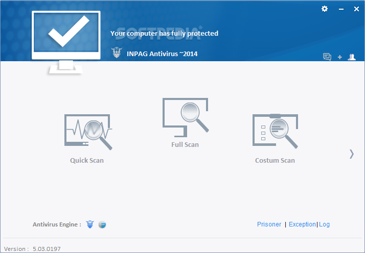 Inpag Antivirus screenshot 2 - Inpag Antivirus allows you to choose the folders you want the program to scan.