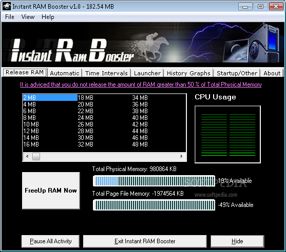 Download Instant Ram Booster 1 0