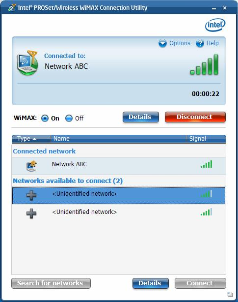 Intel PRO/Wireless 3945ABG Network Connection