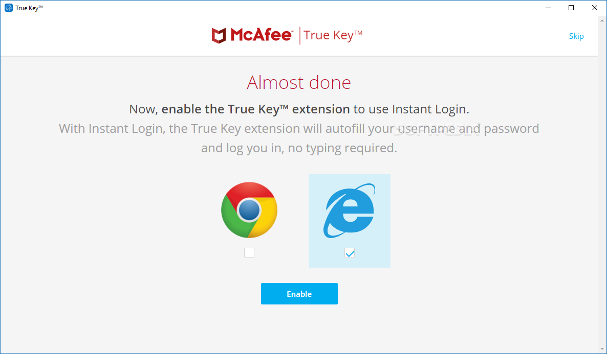 Download McAfee True Key 5.3.138.1