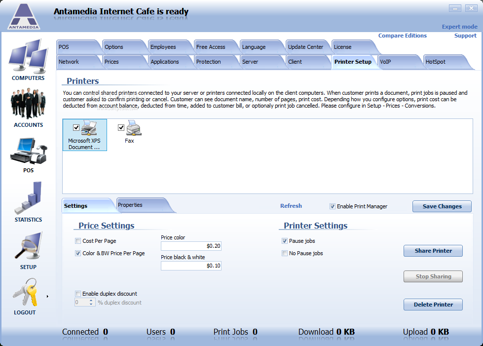 Download ANTAMEDIA Internet Cafe Software 10 1 0