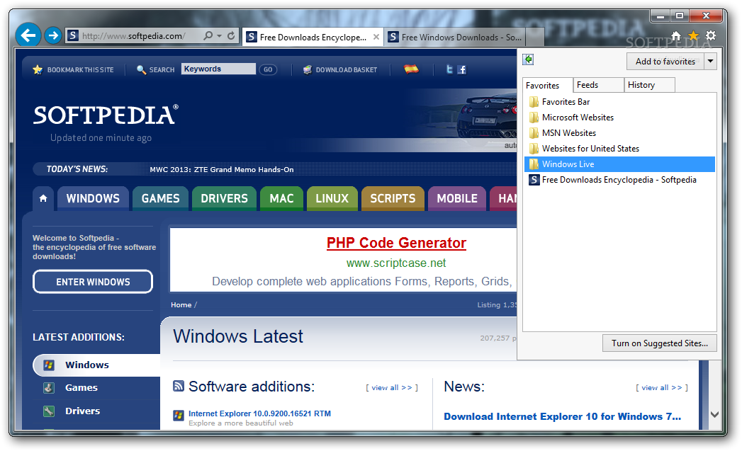 Download Internet Explorer 10 RTM 10 0 9200 16521