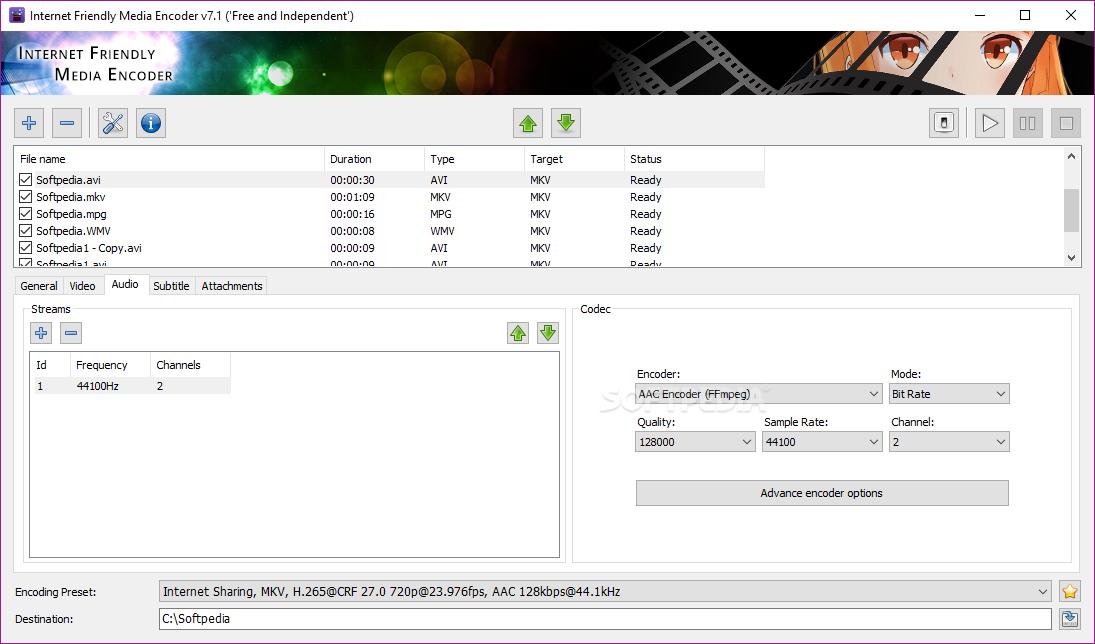 Download Internet Friendly Media Encoder 7 7