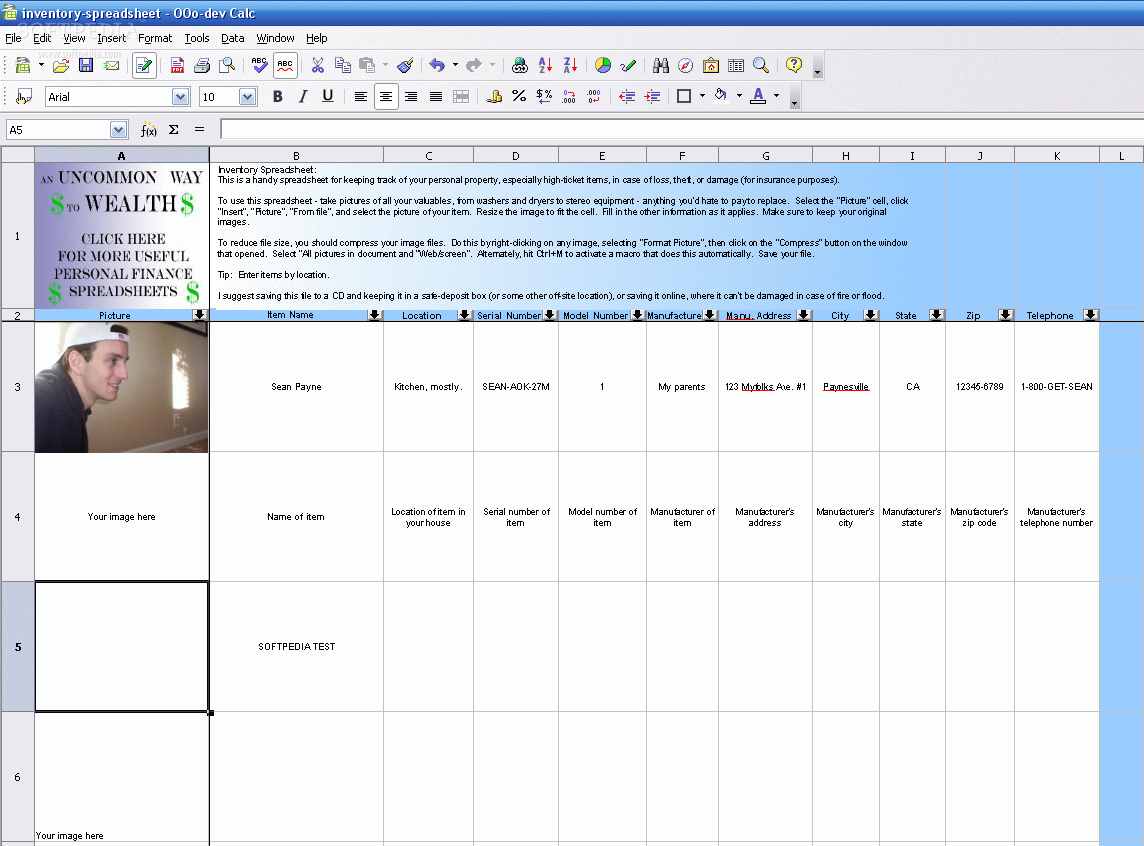 download inventory spreadsheet 1 0