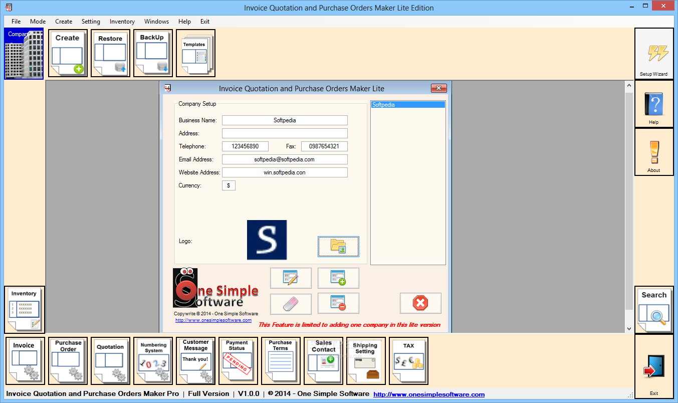 Softpedia  Invoice Lite