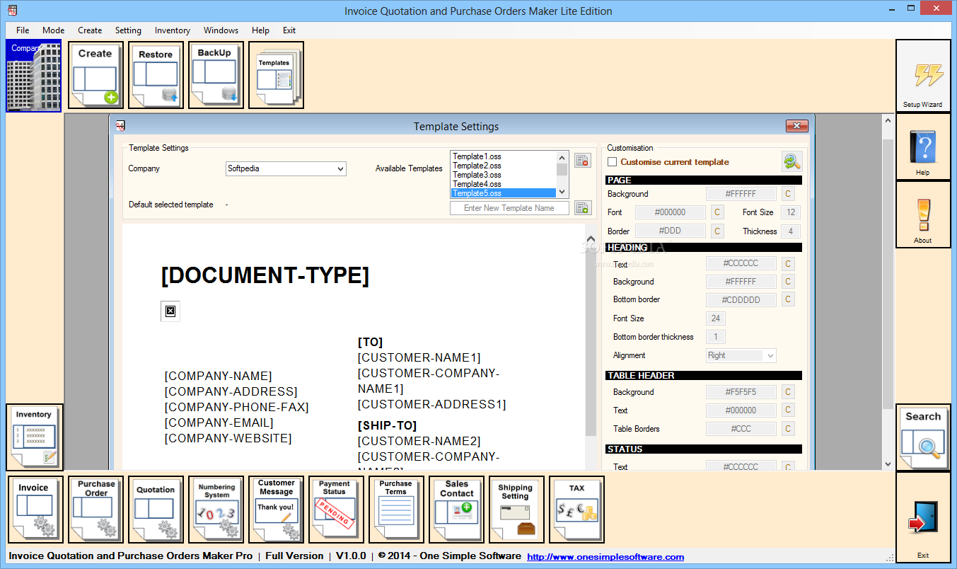 Download Invoice Quotations And Purchase Orders Maker Lite - Invoice creation software free