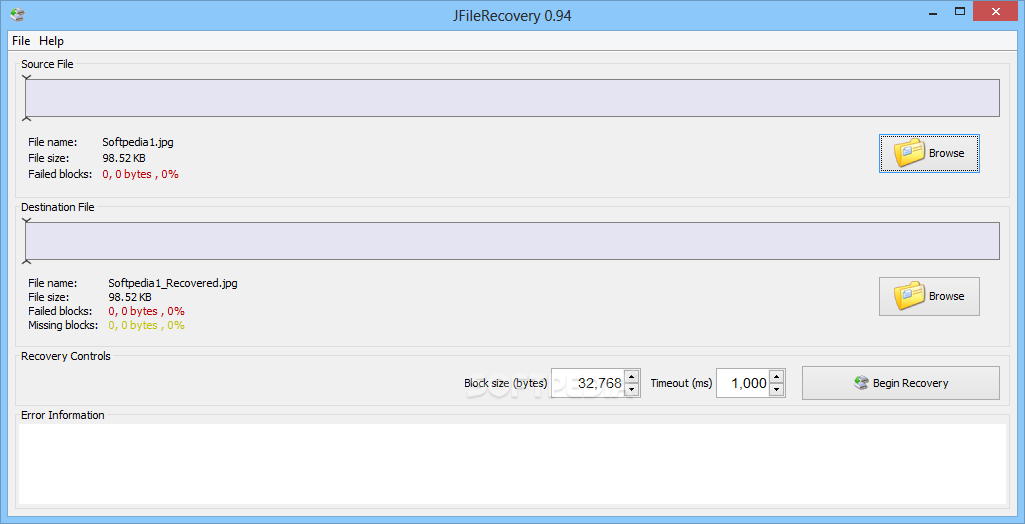 Download JFileRecovery 0 94